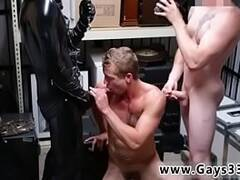 Huge cock straight white male gay porn stars Dungeon master with a