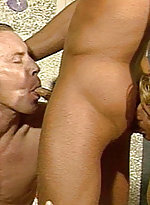 Blond hunks teaming up to lick gay ass and suck hi