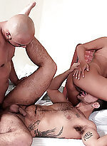 Pretty Latina Kelly joins two bisexual hotties in