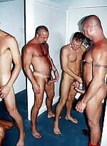 Big and horny gays in an wild group banging