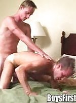 Shy blonde homosexuals strips off and have fun