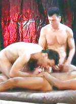 Big bodied young gay cubs in pure gay threesome or