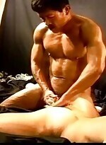 CBT Hot Asian muscle stud fucks white.