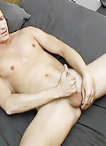 Studly gay simon august totally naked on the couch
