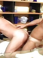 Impassioned hairy gay bears ass banging naked on t