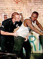 Black gay getting arrested and fucked by gay bear