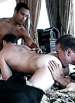 Horny gays victor rios and his roommates rimming a