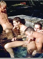 Hot 7 Guy Orgy in the Hot Tub